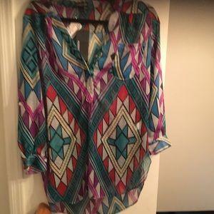 NWT - Audrey Ann button down blouse